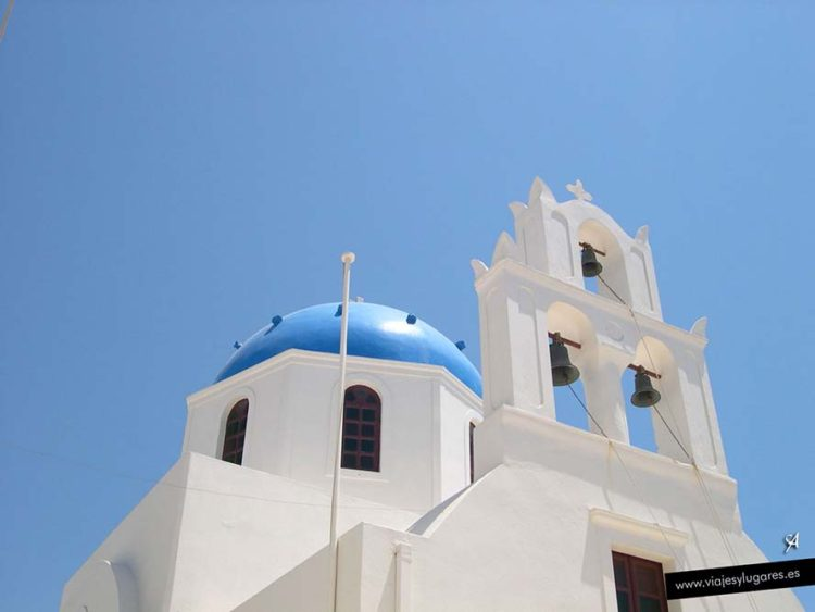 Grecia, iglesia en Santorini