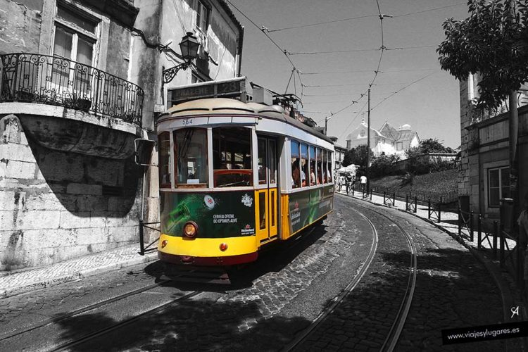 Tranvía en Lisboa. Portugal