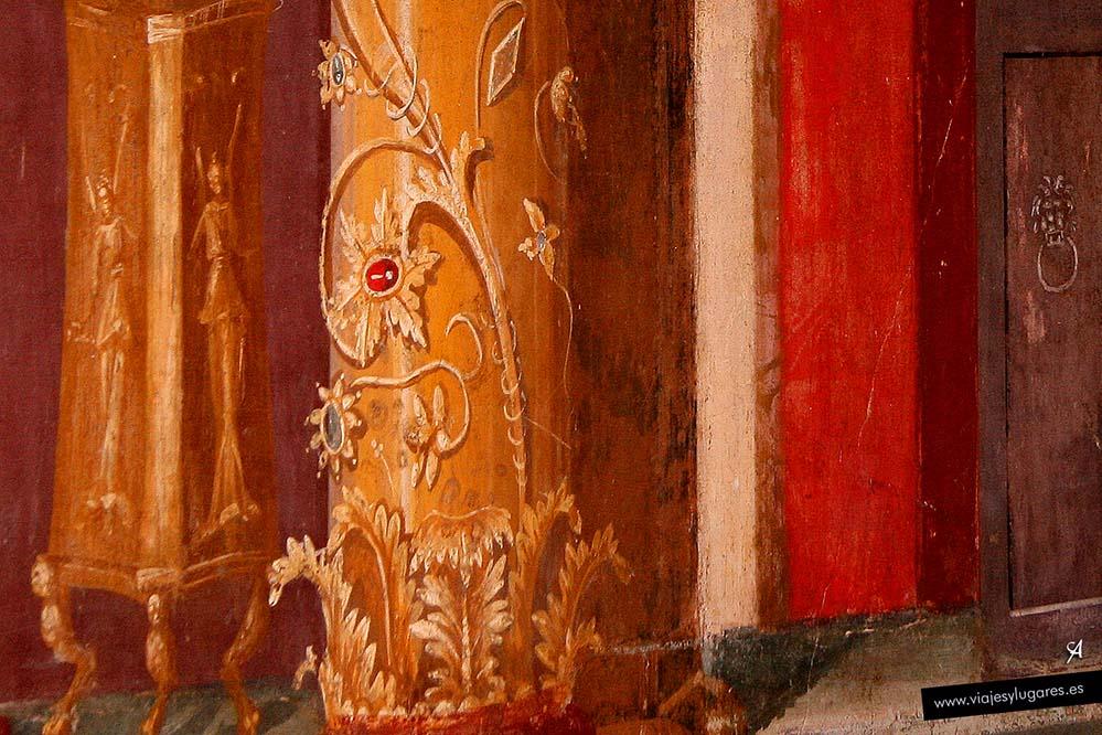 Pinturas en la Villa de Popea en Oplontis
