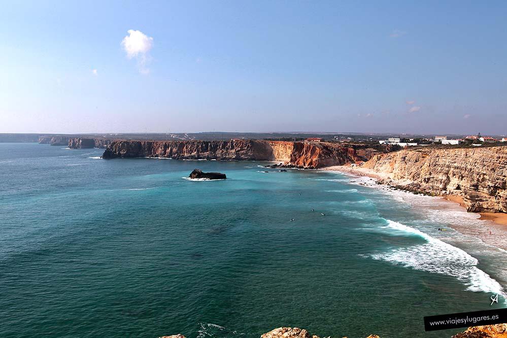 Costa Vicentina vista desde la Fortaleza. Sagres en el Algarve