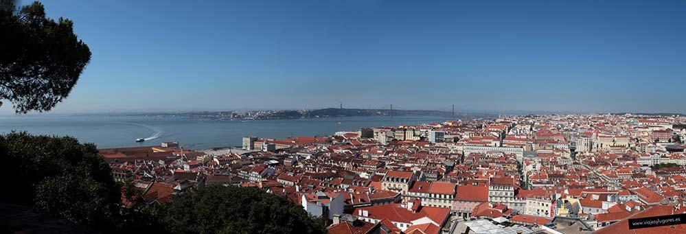 Vista desde el Castillo de San Jorge. Qué visitar en Lisboa: Ruta 3