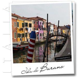 La colorida Isla de Burano. Italia
