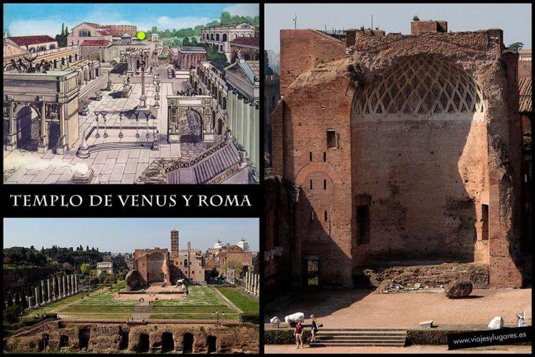 Templo de Venus y Roma. Foro romano. Roma. Italia