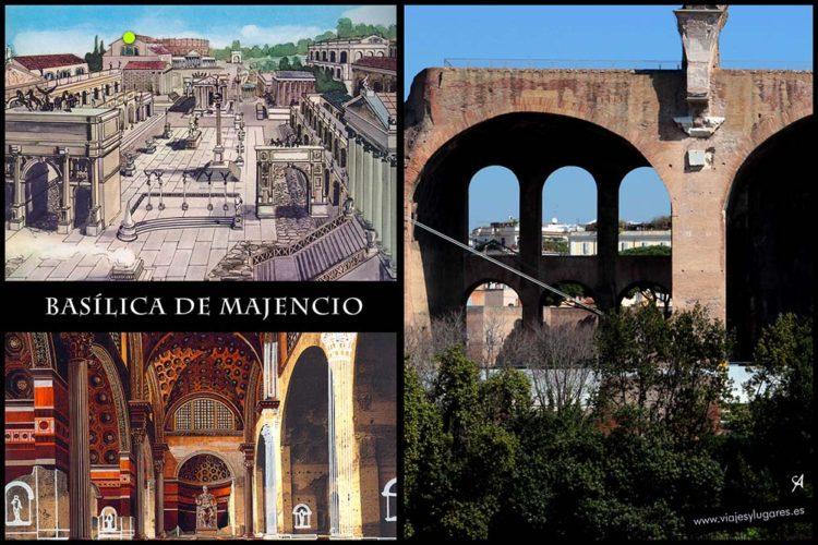 Basílica de Majencio y Constantino. Foro romano. Roma. Italia