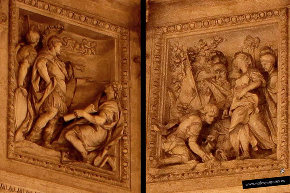 Soldados romanos. Fontana de Trevi en Roma