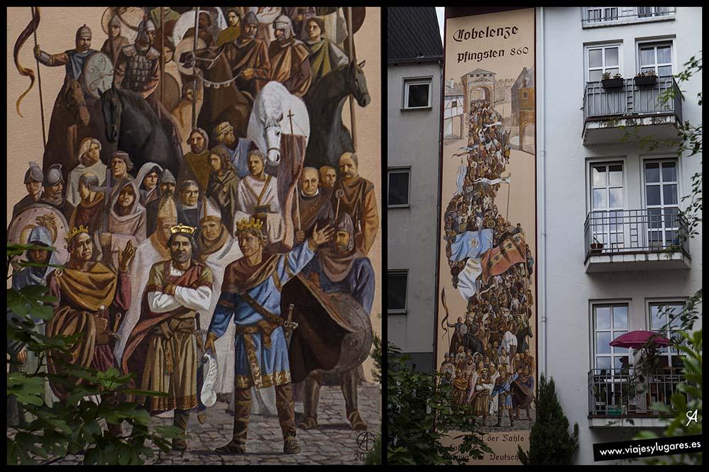 El fresco de la Paz de. Coblenza. Alemania