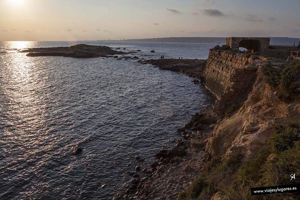 Los atardeceres en la isla de Tabarca son magníficos