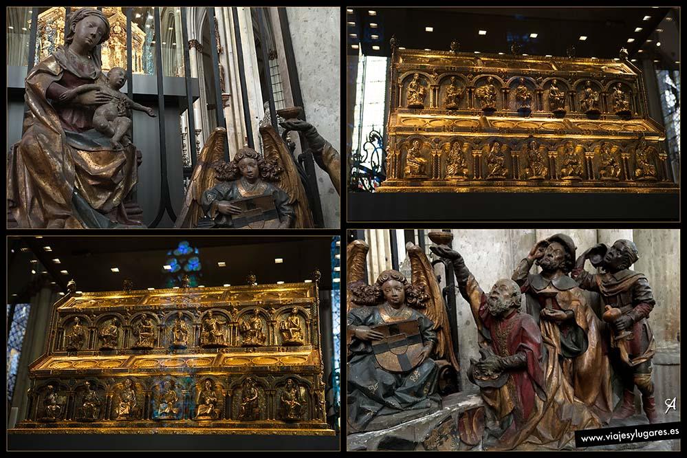 Las reliquias de los tres Reyes Magos en la Catedral de Colonia en Alemania