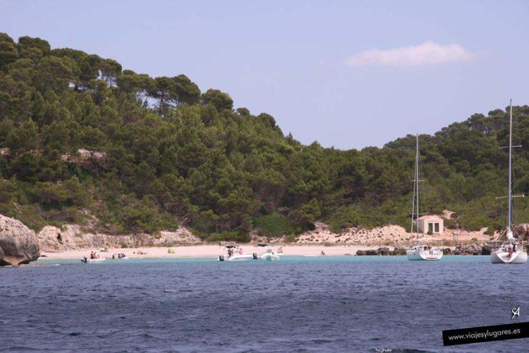 Cala Escorxada en Menorca