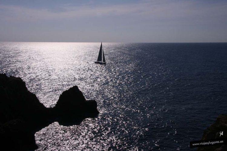 Vista desde el Faro Punta Nati en Menorca