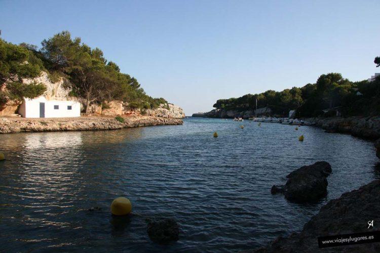 Cala en Blanes en Menorca