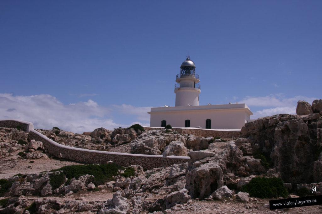 Faro de Cap de Cavallería en Menorca