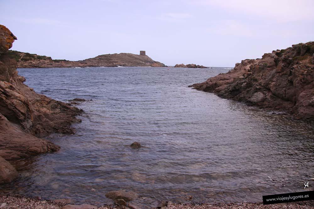 Cala Tamarells en Menorca