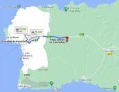 Mapa para llegar a Torrellafuda desde Ciutadella