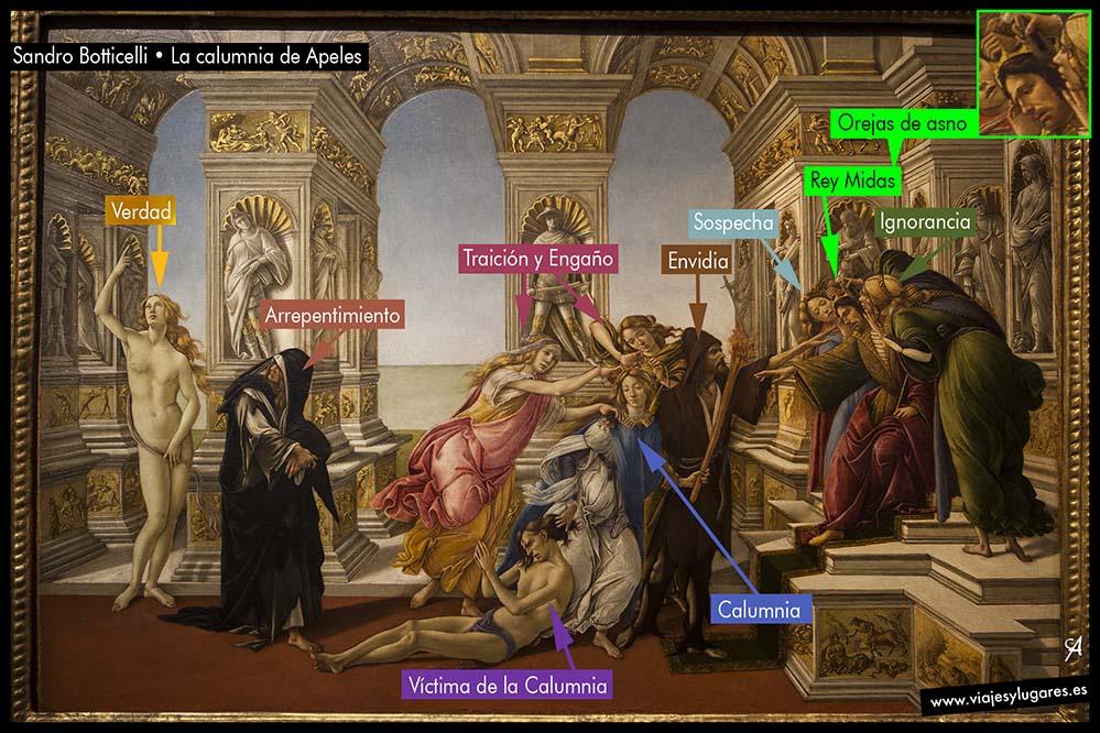 Botticelli • La calumnia de Apeles
