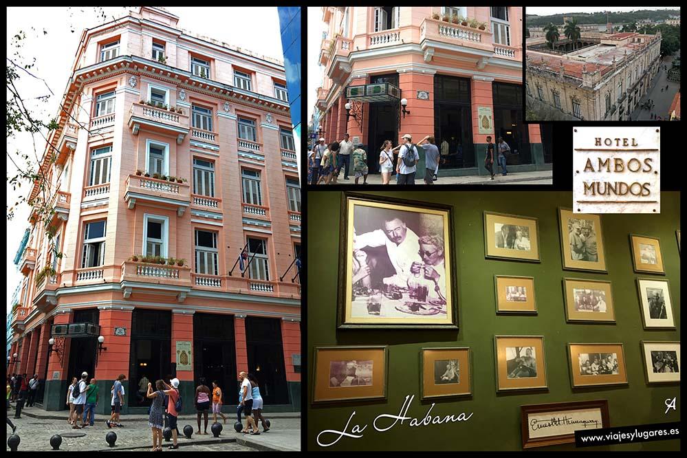 Hotel Ambos Mundos. Esquina de la Calle Obispo y Mercaderes. La Habana