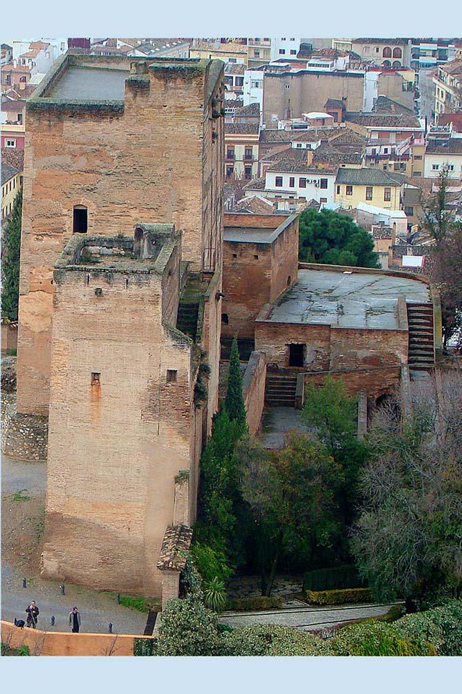 Torres Bermejas en la Alhambra de Granada