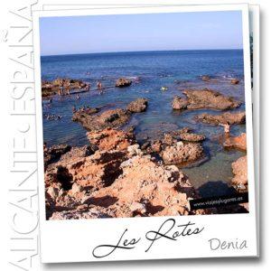 Playa de Les Rotes en Denia, Alicante