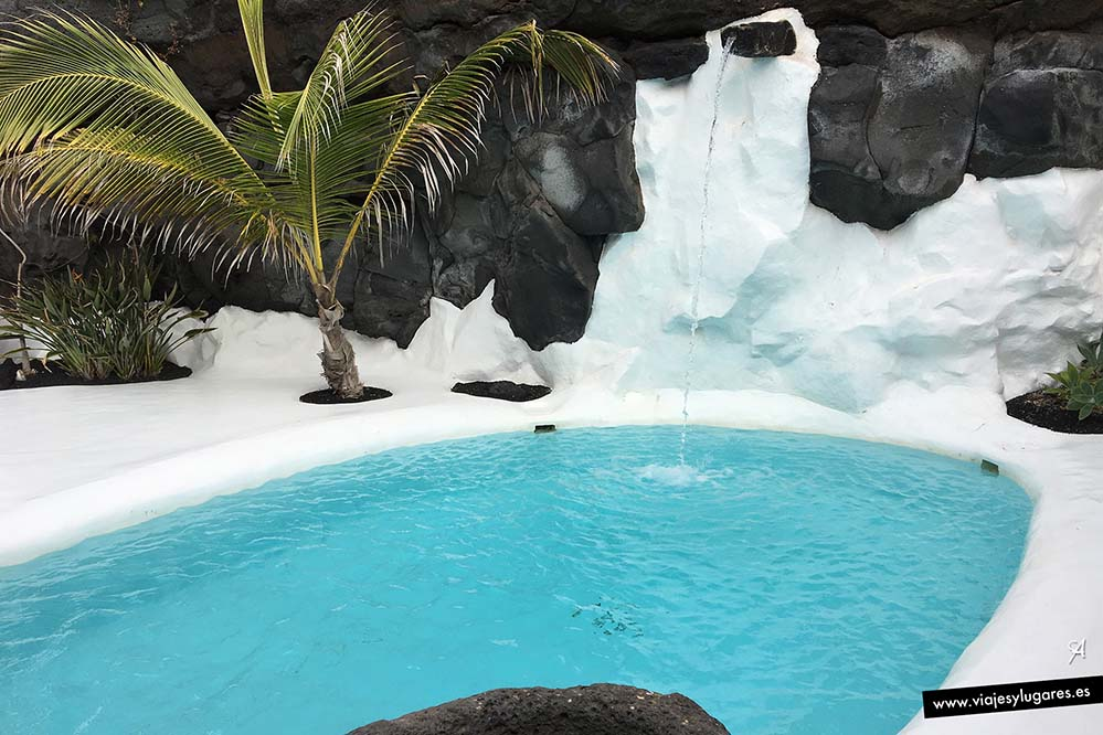 El agua en la Casa del Volcán de César Manrique en Tahíche, Lanzarote