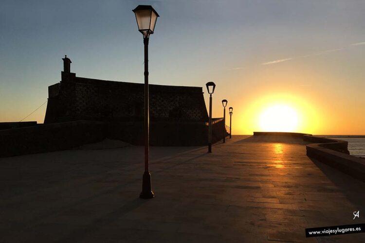 Castillo de San Gabriel. Amanecer en Arrecife. Lanzarote
