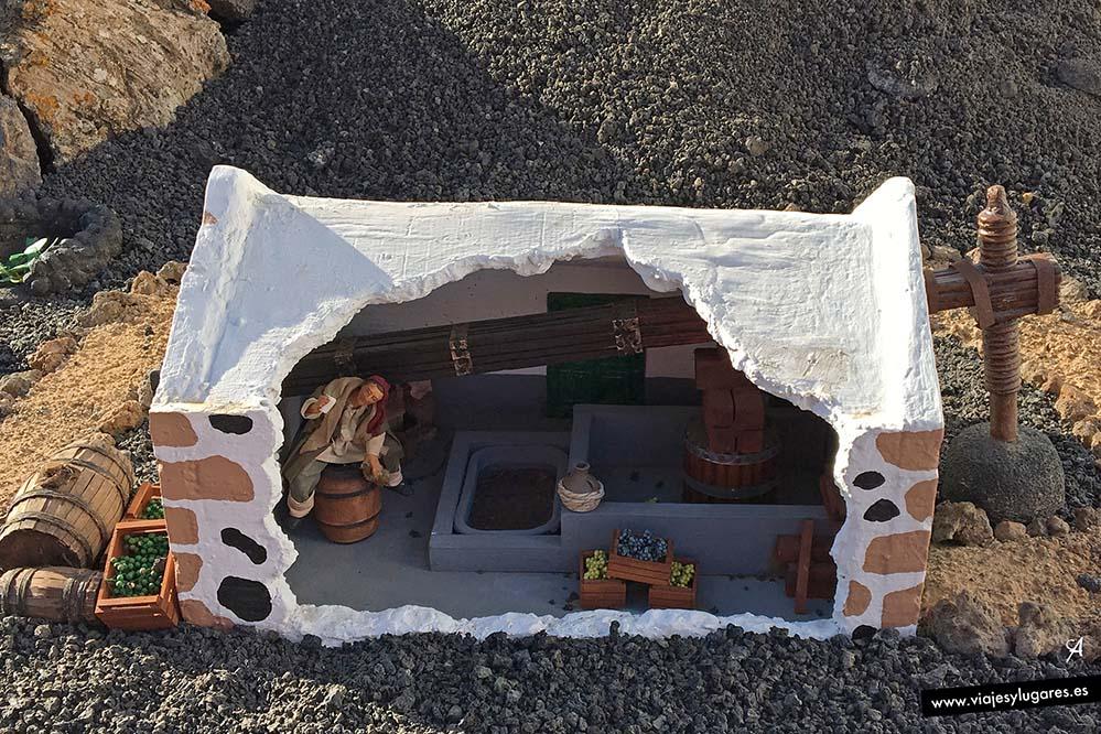 Detalles del belén en Tías en Lanzarote, Canarias