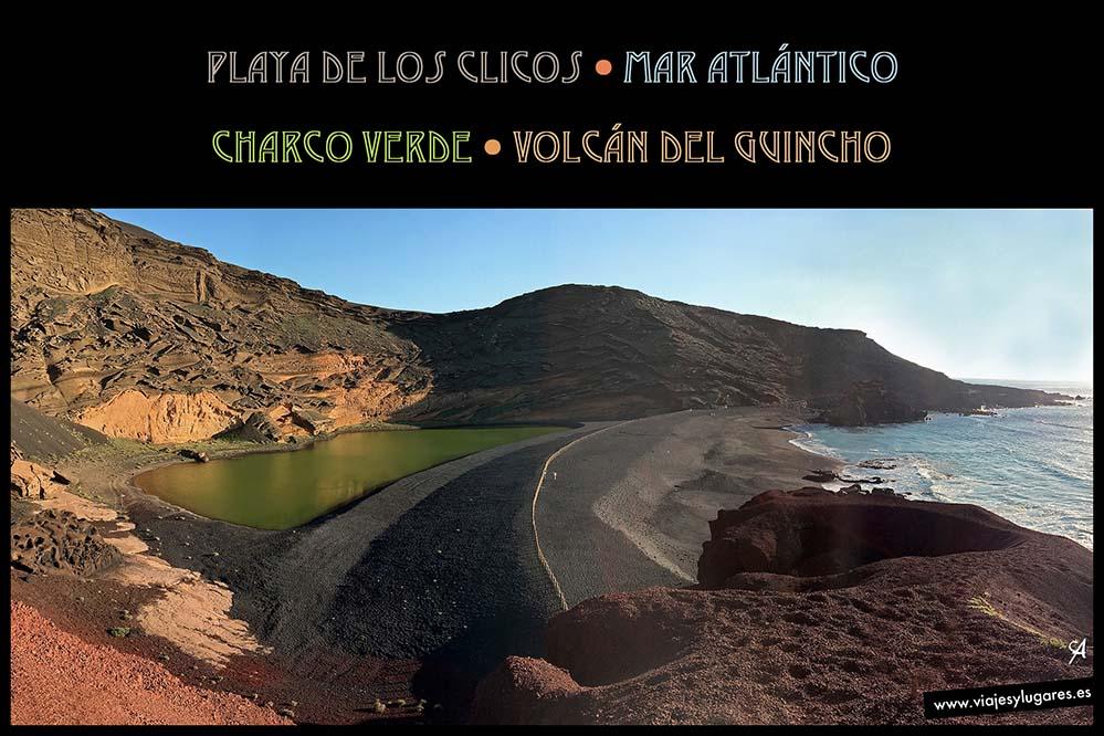 Charco Verde en la playa de los Clicos en Lanzarote