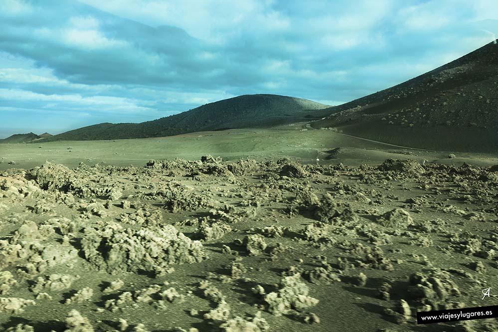 Un paisaje lunar en Timanfaya