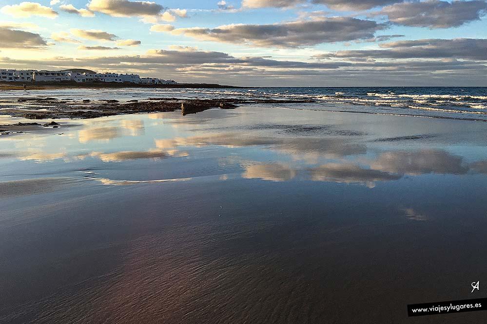 Atardecer en la playa de Famara, Lanzarote