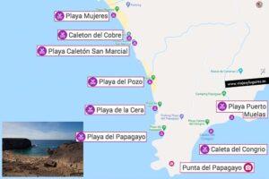 Mapa de Punta del Papagayo en Lanzarote