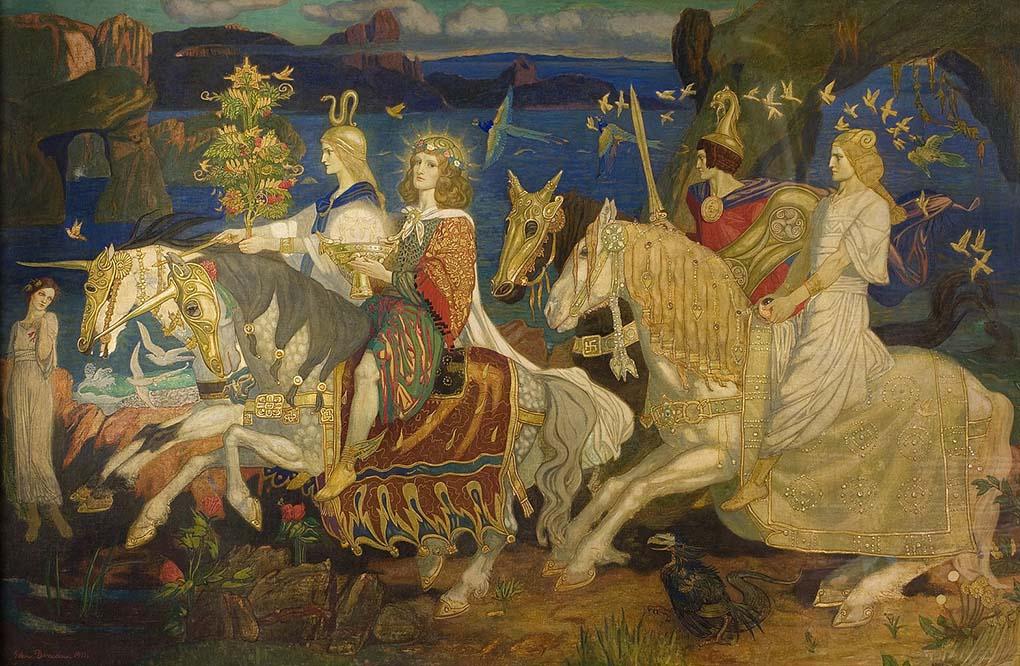 """Los Tuatha Dé Danann representados en """"Riders of the Sidhe"""" de John Duncan (1911)"""
