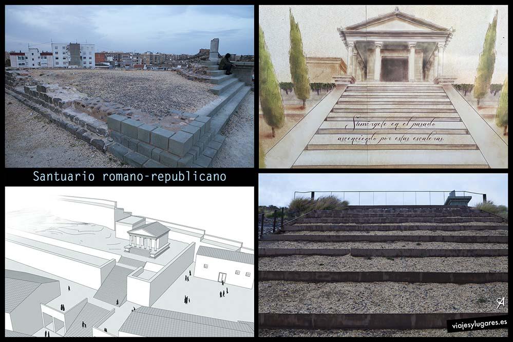 Santuario romano-republicano. Cima del cerro