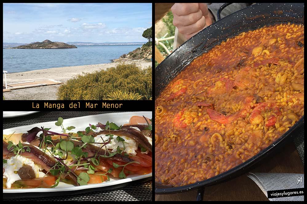 Un arroz de marisco en Macondo frente a la isla del Ciervo, en La Manga.