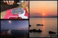 Cena y puesta de sol. Una semana en Tabarca