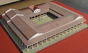 domus romana con peristilo