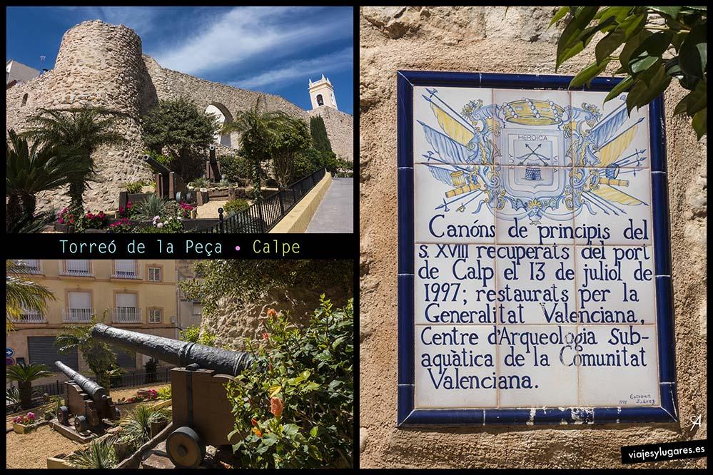 Torreó de la Peça. Casco antiguo de Calpe