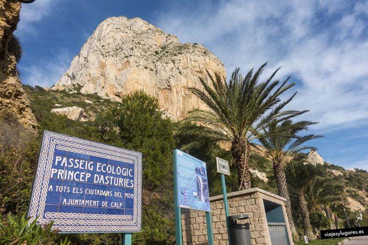 Paseo Ecológico Príncipe de Asturias de Calpe