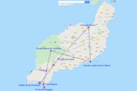 Mapa ruta por Lanzarote, día 6
