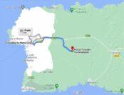 Mapa para llegar a Torretrencada desde Ciutadella